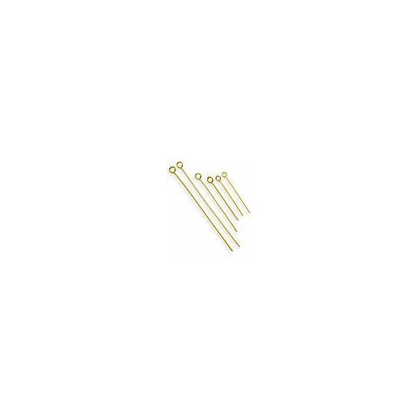 基礎金具/9ピン 9ピン0.7×21mm金色 3g|beadsmania-shop