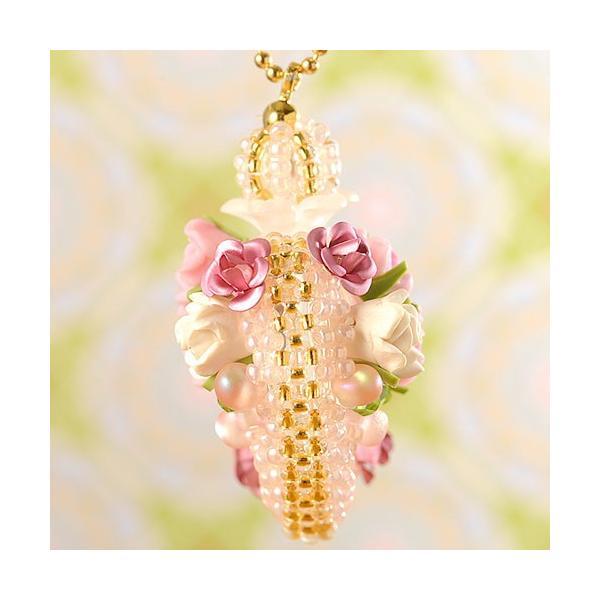 ビーズ キット ビーズファクトリー ベビーピンクの香水瓶チャーム beadsmania-shop 03