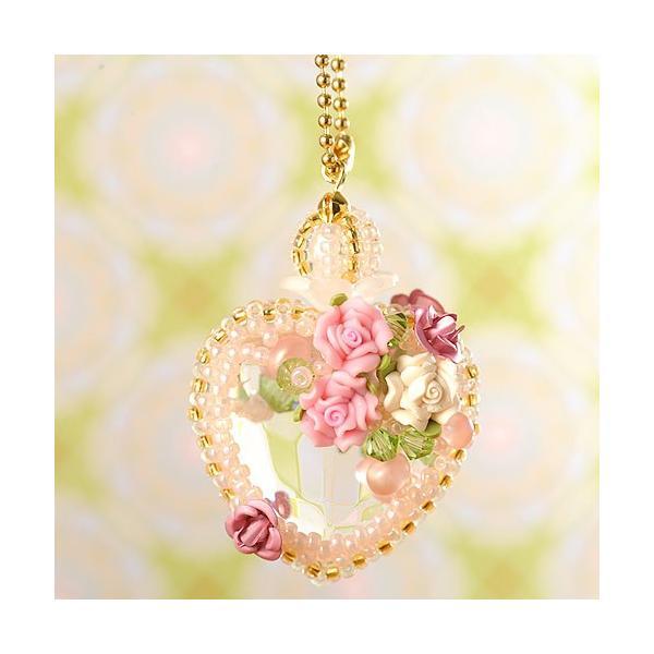 ビーズ キット ビーズファクトリー ベビーピンクの香水瓶チャーム beadsmania-shop 04