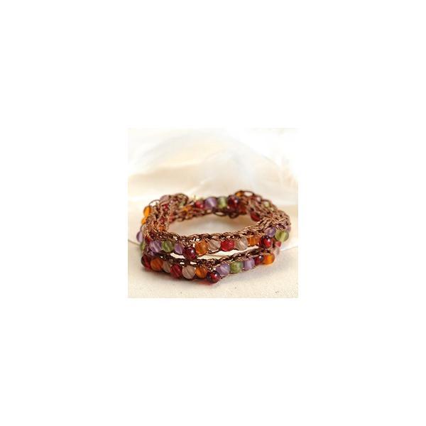 ビーズ キット アクセサリー TOHO ≪リリアンブレスレットキット≫フルーツキャンディ・2ラップブレス|beadsmania-shop