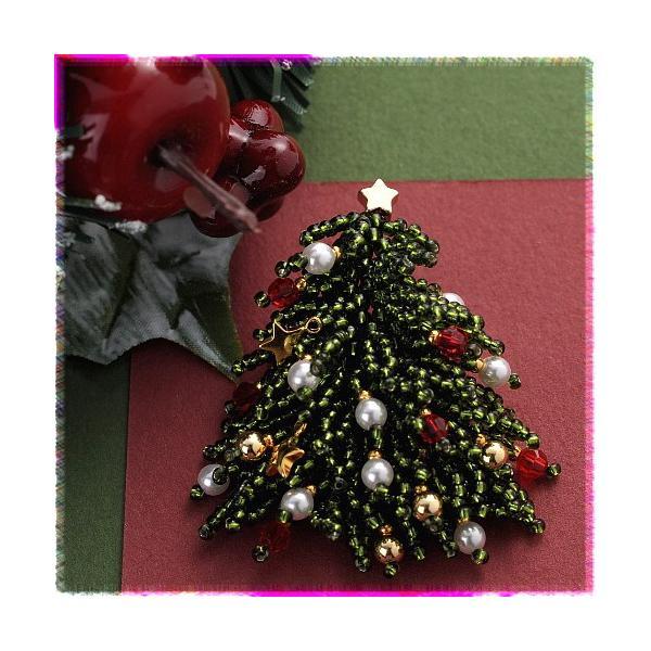 ビーズ キット クリスマスツリー クリスマスブローチ beadsmania-shop