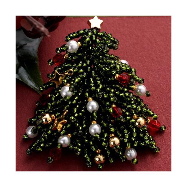 ビーズ キット クリスマスツリー クリスマスブローチ beadsmania-shop 02