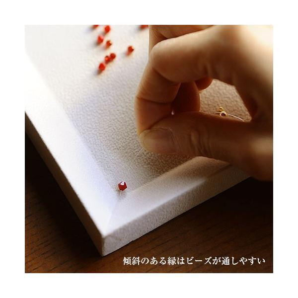 ビーズ 収納 ビーズ作業トレイ 大 H20cm×W30cm  ベージュ|beadsmania-shop|04