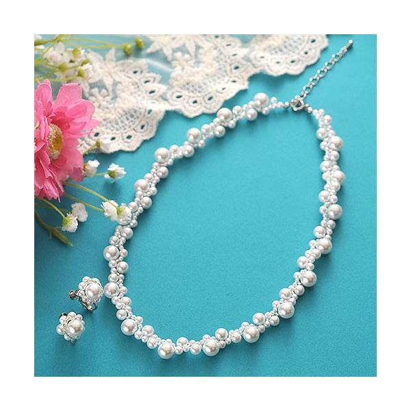 ビーズ キット アクセサリー Laciq Beads チェリーパールのネックレス&イヤリング|beadsmania-shop
