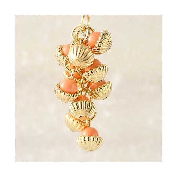 ハンドメイド アクセサリー ラティーフ ブドウチャーム (オレンジ)|beadsmania-shop