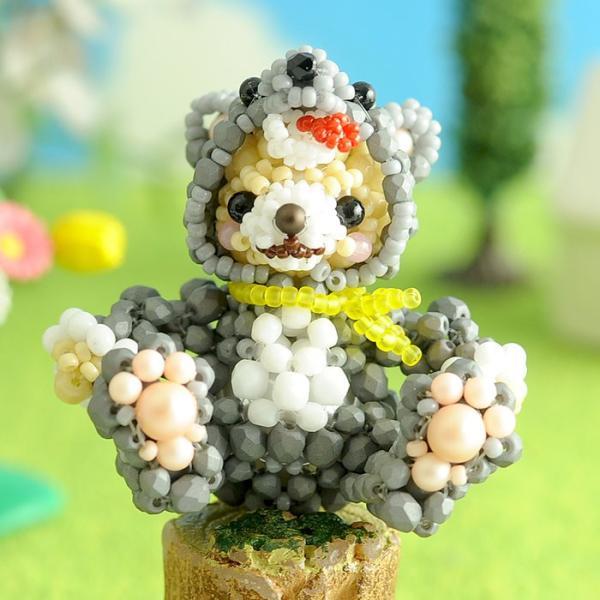 テディベアシリーズ〜着ぐるみオオカミくん〜  ビーズマニア|beadsmania-shop|02