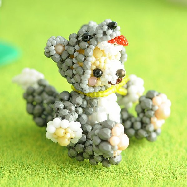 テディベアシリーズ〜着ぐるみオオカミくん〜  ビーズマニア|beadsmania-shop|08