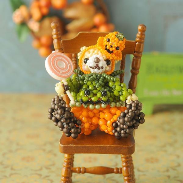 テディベアシリーズ〜ハロウィン・かぼちゃくん〜  ビーズマニア beadsmania-shop