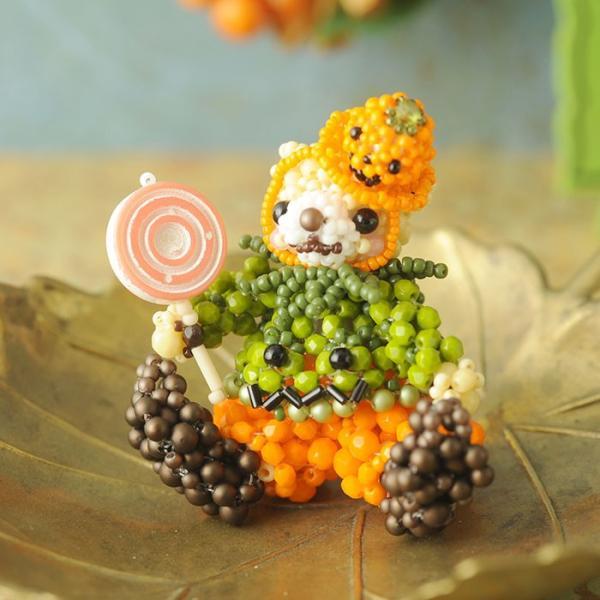 テディベアシリーズ〜ハロウィン・かぼちゃくん〜  ビーズマニア beadsmania-shop 02