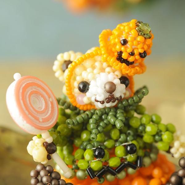 テディベアシリーズ〜ハロウィン・かぼちゃくん〜  ビーズマニア beadsmania-shop 06