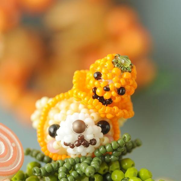 テディベアシリーズ〜ハロウィン・かぼちゃくん〜  ビーズマニア beadsmania-shop 09