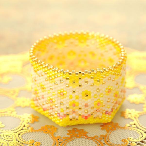 ビーズキット アクセサリー ステッチボックス〜手毬箱・銀杏並木〜|beadsmania-shop|07