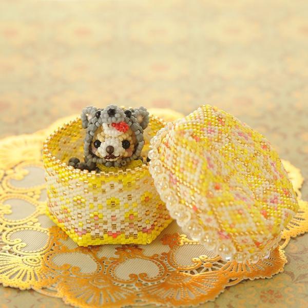 ビーズキット アクセサリー ステッチボックス〜手毬箱・銀杏並木〜|beadsmania-shop|09