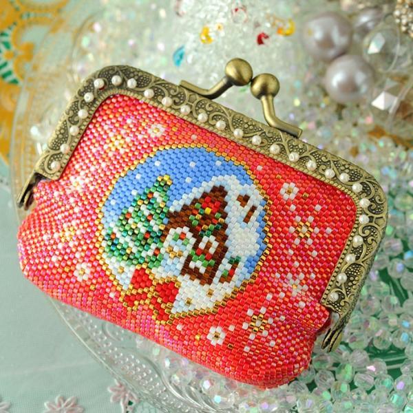 ビーズキット 雑貨 がま口ポーチ〜Merry Christmas〜  ビーズマニア|beadsmania-shop|03