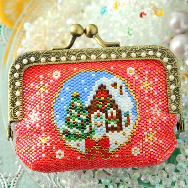 ビーズキット 雑貨 がま口ポーチ〜Merry Christmas〜  ビーズマニア|beadsmania-shop|04