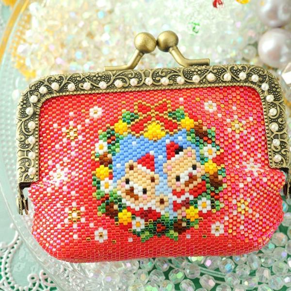 ビーズキット 雑貨 がま口ポーチ〜Merry Christmas〜  ビーズマニア|beadsmania-shop|05