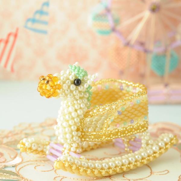 ビーズキット おもちゃ Babyギフト〜ゆらゆら木馬〜 ビーズマニア|beadsmania-shop|02