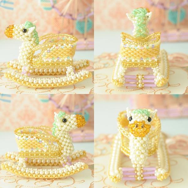 ビーズキット おもちゃ Babyギフト〜ゆらゆら木馬〜 ビーズマニア|beadsmania-shop|03