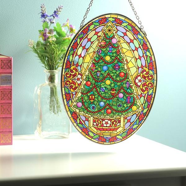 ステンドクラス アンティーク ステンドグラス サンキャッチャー 壁掛け Vintage Christmas beadsmania-shop