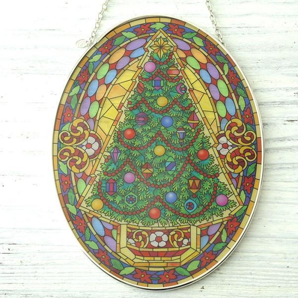 ステンドクラス アンティーク ステンドグラス サンキャッチャー 壁掛け Vintage Christmas beadsmania-shop 04