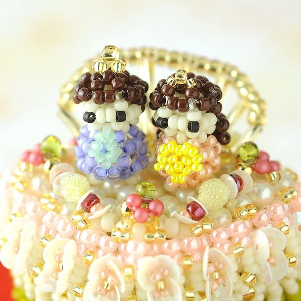 手作り雛人形 ひな祭り特集 【コフレ・ドゥ・ガトー】ラ・フェット・ドゥ・フィーユ プレゼント ビーズマニア|beadsmania-shop|05