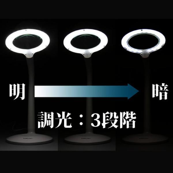 拡大鏡 スタンド 卓上 LED 虫眼鏡 眼鏡 ルミルーペ スタンドルーペ LEDライト付  長寿祝い 敬老の日 プレゼント 老眼 beadsmania-shop 06