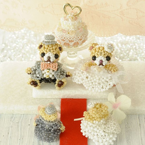 ビーズキット ハンドメイド プレミアム☆テディベア〜Happy Wedding〜  ビーズマニア|beadsmania-shop|07