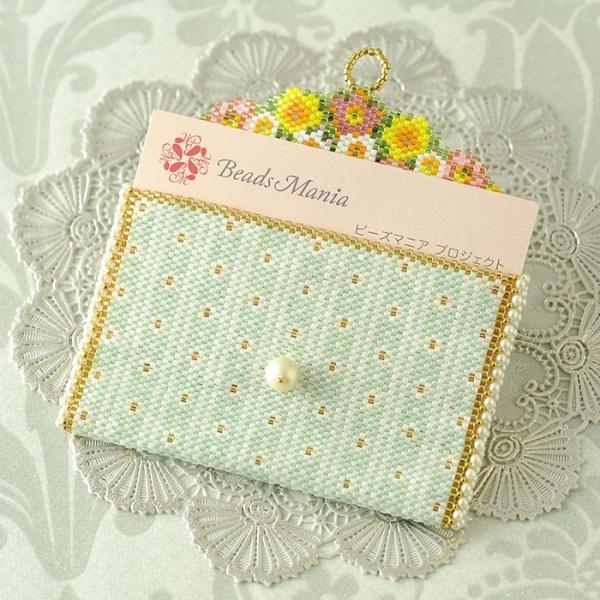 ビーズ キット 雑貨 ミニポーチ〜薔薇と蝶〜  春特集 ビーズマニア|beadsmania-shop|05