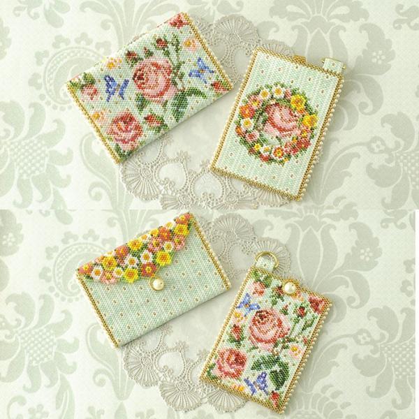 ビーズ キット 雑貨 ミニポーチ〜薔薇と蝶〜  春特集 ビーズマニア|beadsmania-shop|07