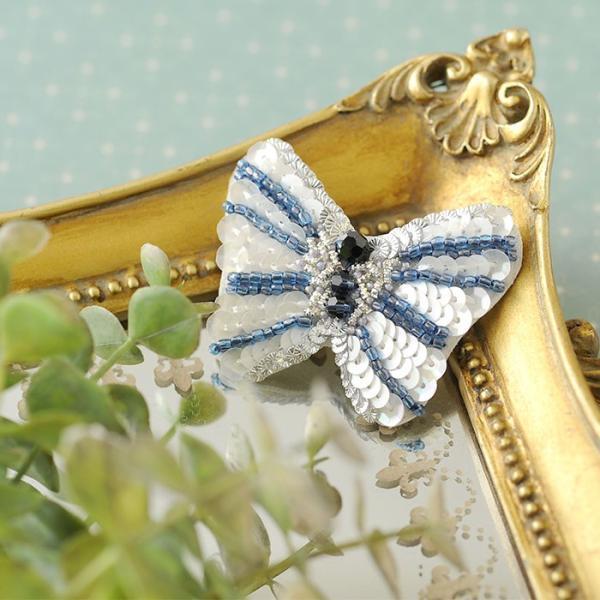 ビーズキット オートクチュール刺繍 ビーズファクトリー オートクチュールビーズ刺繍キット バタフライブローチ beadsmania-shop