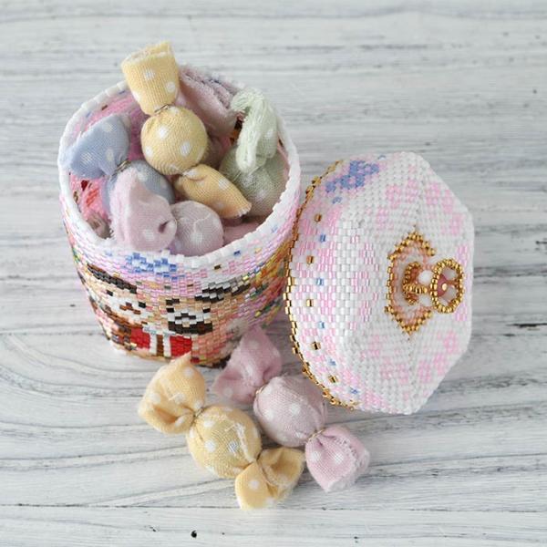 アクセサリーボックス ステッチボックス〜Sweets Party〜  ビーズマニア|beadsmania-shop|08