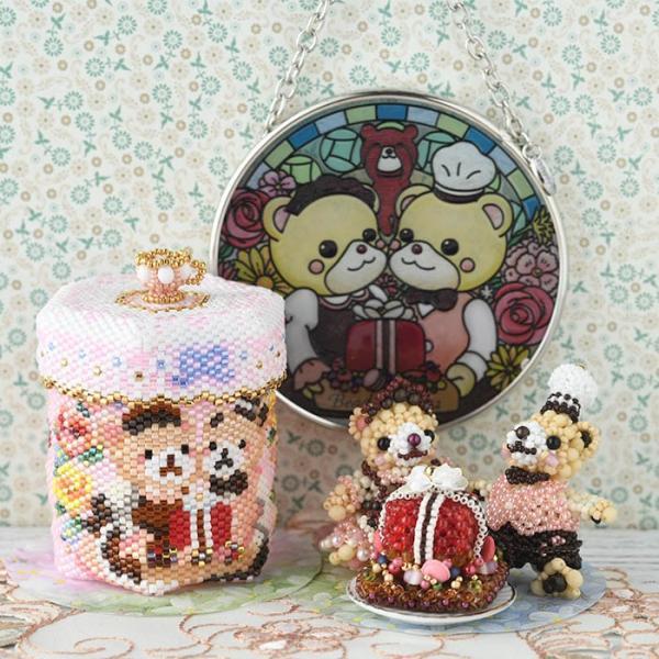 アクセサリーボックス ステッチボックス〜Sweets Party〜  ビーズマニア|beadsmania-shop|09