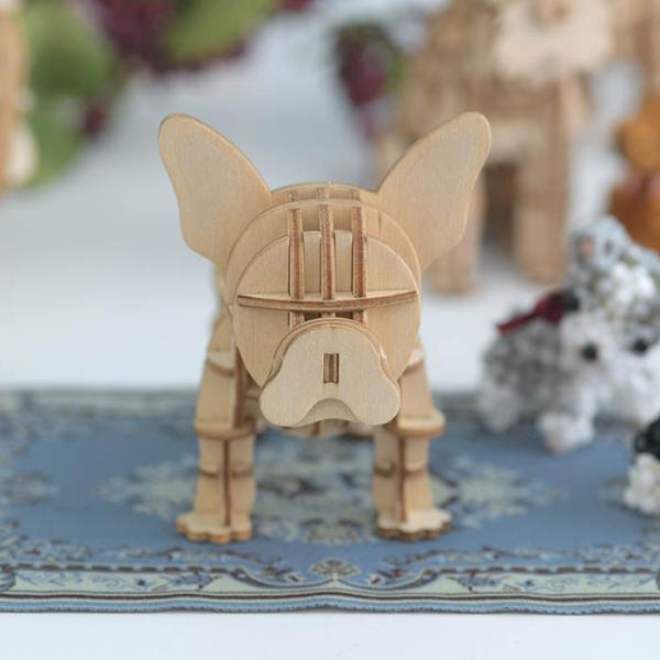 クラフト キット ハンドメイド 手作り  Wooden Art ki-gu-mi フレンチブルドッグ|beadsmania-shop|02