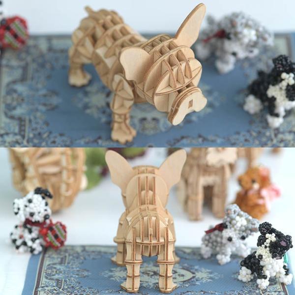 クラフト キット ハンドメイド 手作り  Wooden Art ki-gu-mi フレンチブルドッグ|beadsmania-shop|04