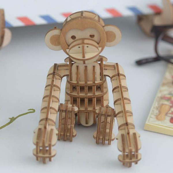 クラフト キット ハンドメイド 手作り  Wooden Art ki-gu-mi サル|beadsmania-shop|02