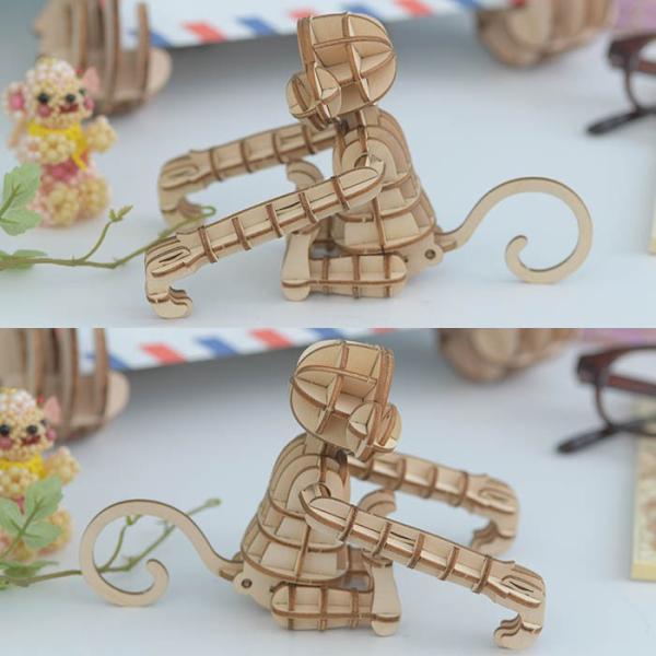 クラフト キット ハンドメイド 手作り  Wooden Art ki-gu-mi サル|beadsmania-shop|03
