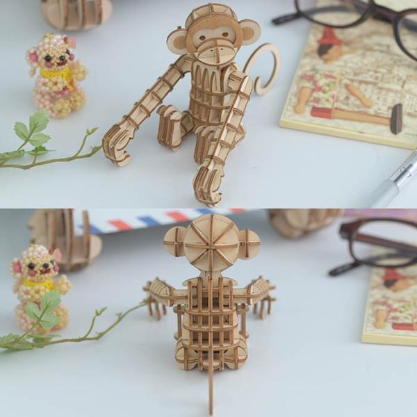 クラフト キット ハンドメイド 手作り  Wooden Art ki-gu-mi サル|beadsmania-shop|04