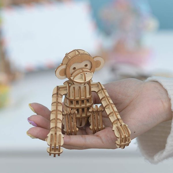 クラフト キット ハンドメイド 手作り  Wooden Art ki-gu-mi サル|beadsmania-shop|06