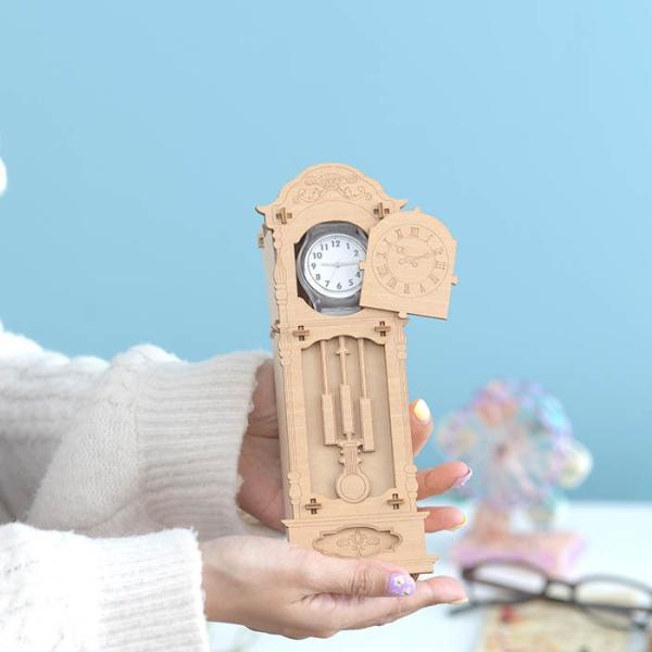 クラフト キット ハンドメイド 手作り  Wooden Art ki-gu-mi 古時計 ウォッチケース beadsmania-shop 06