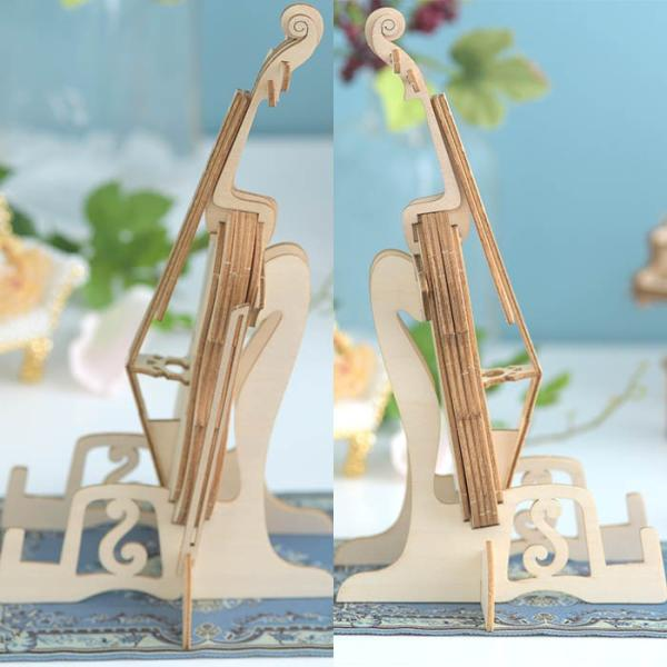 クラフト キット ハンドメイド 手作り  Wooden Art ki-gu-mi チェロ スマホスタンド|beadsmania-shop|03