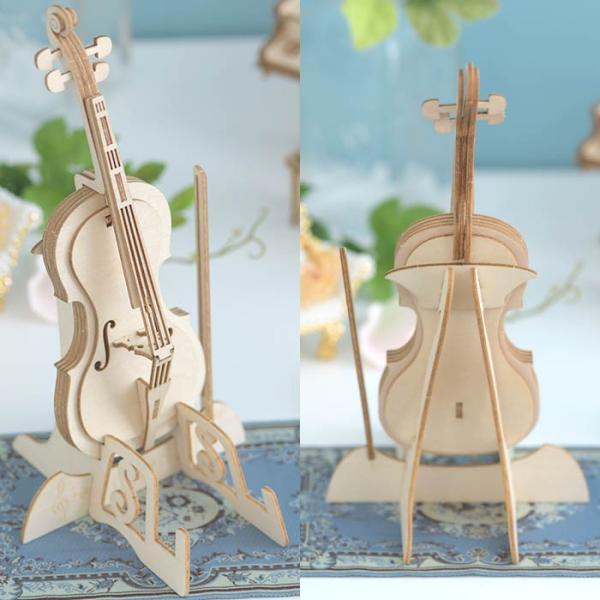 クラフト キット ハンドメイド 手作り  Wooden Art ki-gu-mi チェロ スマホスタンド|beadsmania-shop|04