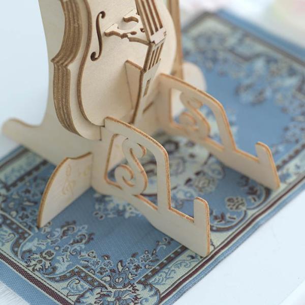 クラフト キット ハンドメイド 手作り  Wooden Art ki-gu-mi チェロ スマホスタンド|beadsmania-shop|05