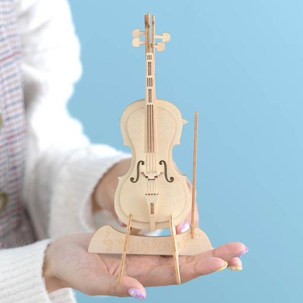 クラフト キット ハンドメイド 手作り  Wooden Art ki-gu-mi チェロ スマホスタンド|beadsmania-shop|06