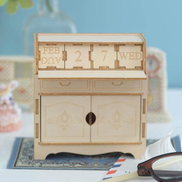 クラフト キット ハンドメイド 手作り  Wooden Art ki-gu-mi ライティングデスク カレンダー|beadsmania-shop|02