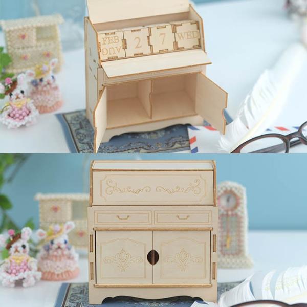 クラフト キット ハンドメイド 手作り  Wooden Art ki-gu-mi ライティングデスク カレンダー|beadsmania-shop|04