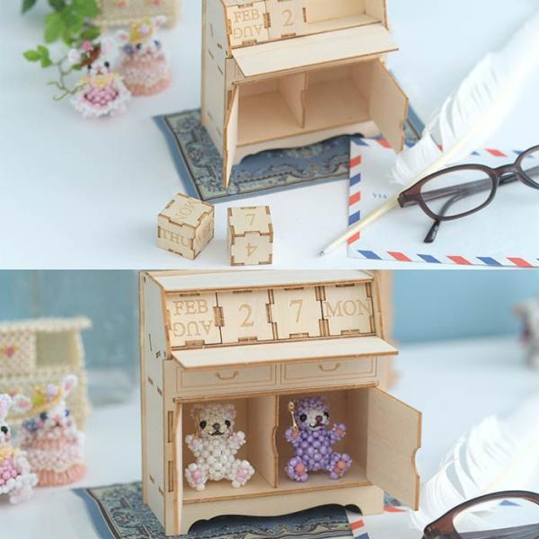 クラフト キット ハンドメイド 手作り  Wooden Art ki-gu-mi ライティングデスク カレンダー|beadsmania-shop|05
