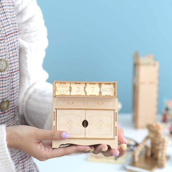クラフト キット ハンドメイド 手作り  Wooden Art ki-gu-mi ライティングデスク カレンダー|beadsmania-shop|06