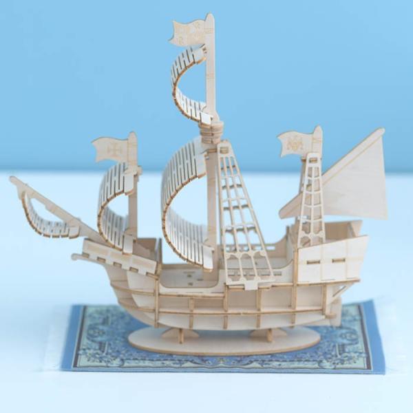 クラフト キット ハンドメイド 手作り  Wooden Art ki-gu-mi 帆船|beadsmania-shop|02