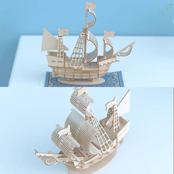 クラフト キット ハンドメイド 手作り  Wooden Art ki-gu-mi 帆船|beadsmania-shop|03
