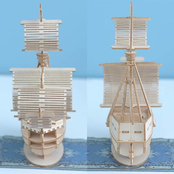 クラフト キット ハンドメイド 手作り  Wooden Art ki-gu-mi 帆船|beadsmania-shop|04